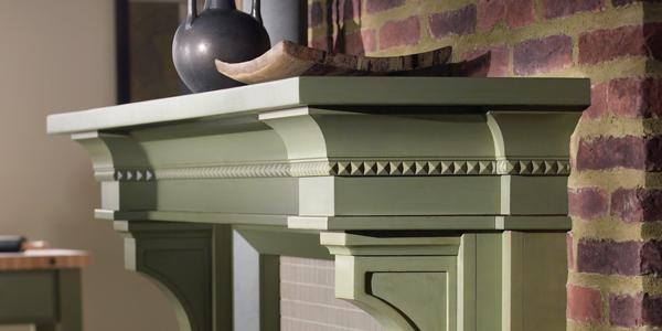 Decorative Mantle in Georgetown Knotty Alder Seagrass Dry Brush