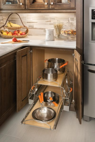 Pots And Pans Organizer Base Kitchen Cabinet Pull Out Lowe S Cabinets
