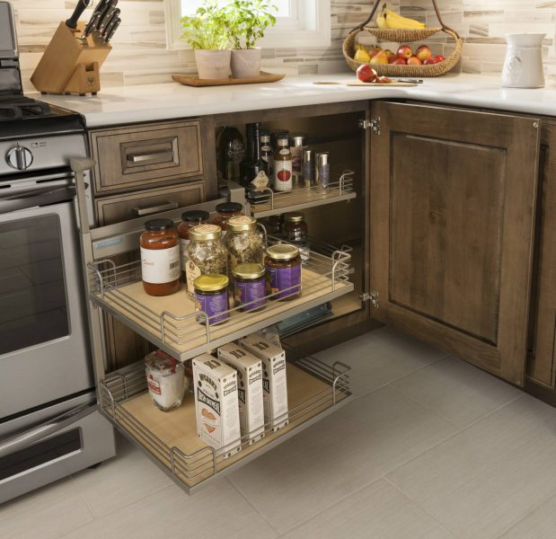 Base Blind Corner Cabinet With Full Access Trays Schuler Cabinetry At Lowes