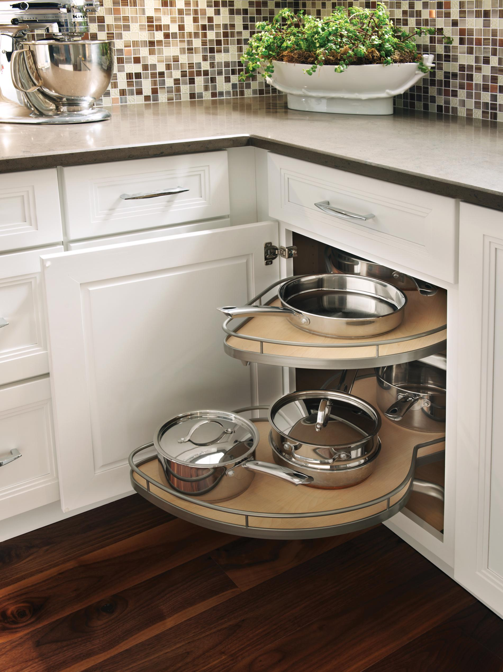 Corner Cabinet With Pull Out Storage Schuler Cabinetry