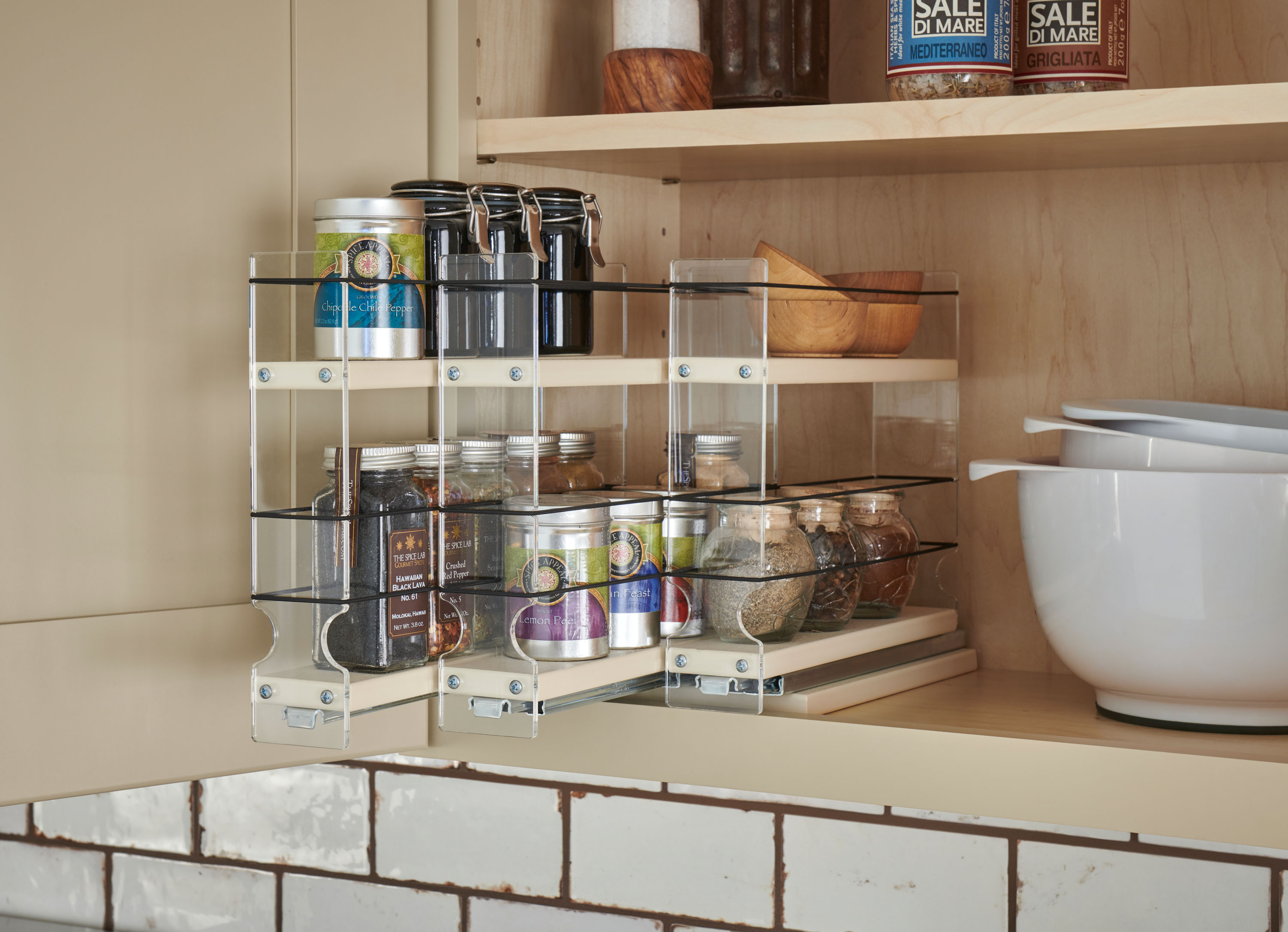 Multi Level Spice Rack Schuler Cabinetry At Lowes