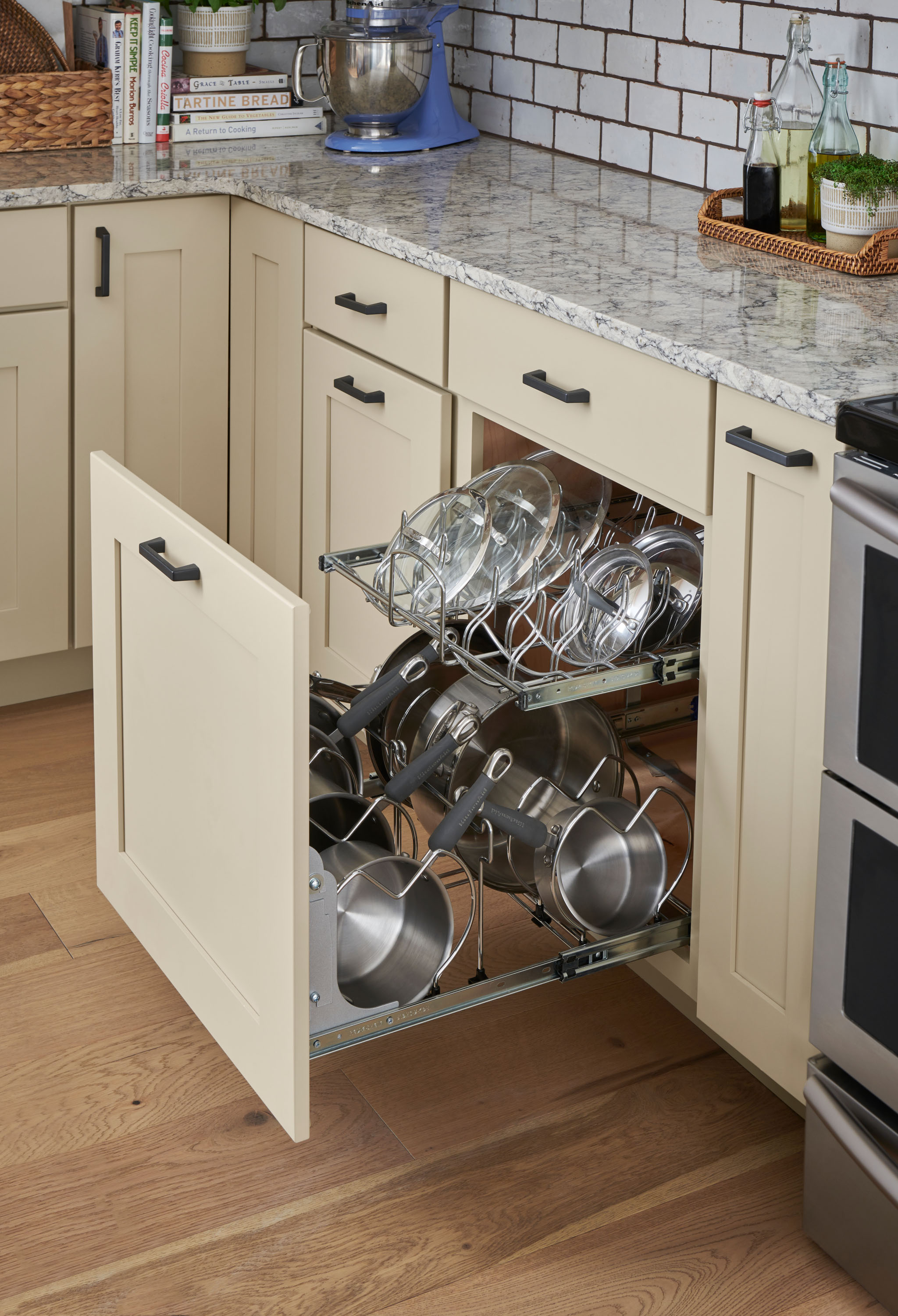 Pull Out Cookware Organizer Schuler Cabinetry At Lowes